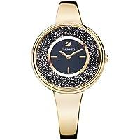 Swarovski Crystalline Pure Quartz Black Dial Ladies Watch