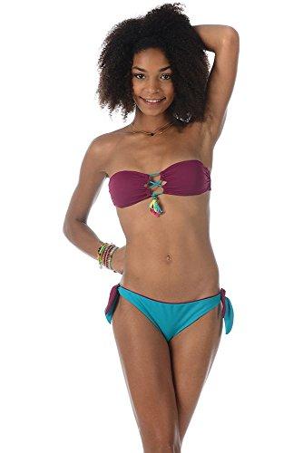 Braga de bikini clásica morado burdeos Wanders Banana Moon Teens Multicolor