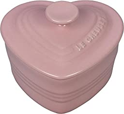 Le Creuset Hibiscus Stoneware Covered 8 Ounce Heart Ramekin