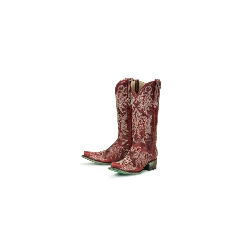 Ringo Boots Western Cowboy Leather 922 20T Womens Black/Red Shoes