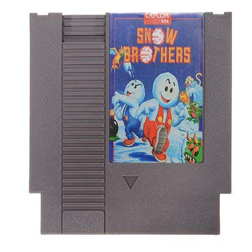 Snow Brothers 72 Pin 8 Bit Game Card Cartridge for NES - Retro Games Accessories Cartridge