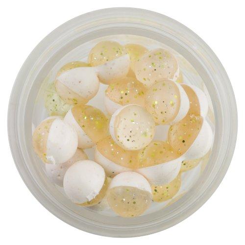 Berkley Powerbait huevos de alimentación flotante Magnum y ajo anzuelo, Plateado Chartreuse transparente, blanco...