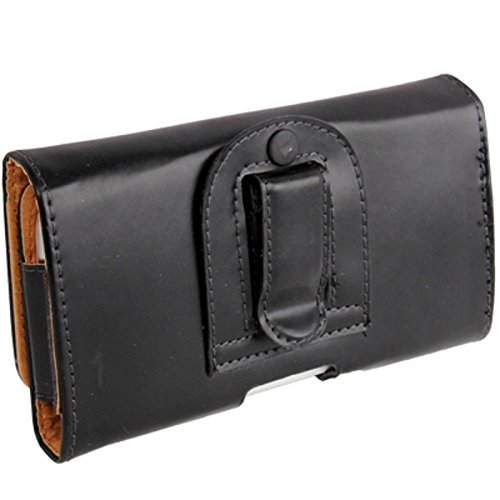 """DFV mobile - Case belt clip synthetic leather horizontal smooth for >      apple iphone 6 [4,7""""], color black"""