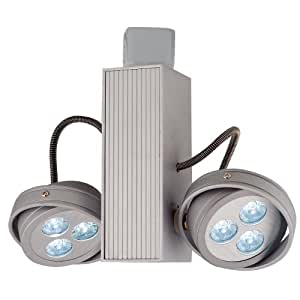 Jesco Lighting JL5216X1W4540S Contempo Series LED Track Head for J 2-Wire Single Circuit Track System, Silver