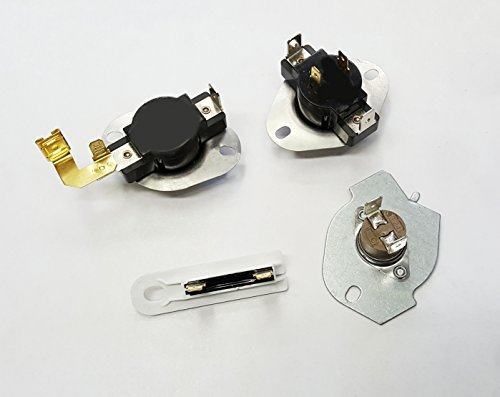 EXP65931 Electric Dryer Thermostat Kit (replaces 279816, 3977767, WP3392519, WP3387134) for Whirlpool, Roper, Maytag, Kenmore and manu other by Express Parts Direct