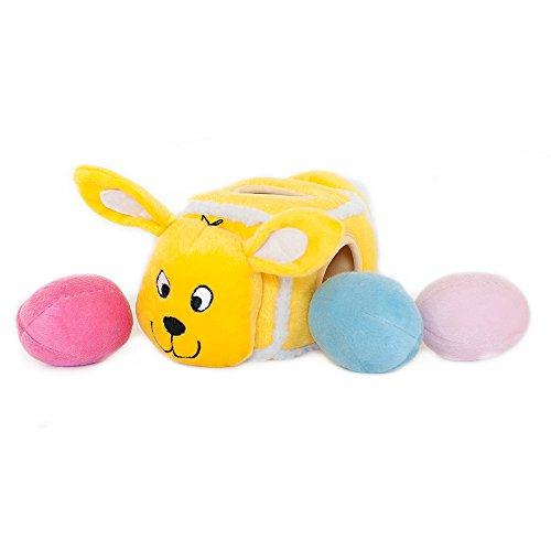 ZippyPaws Hide-an-Egg Burrow Interactive Squeaky Plush Dog T