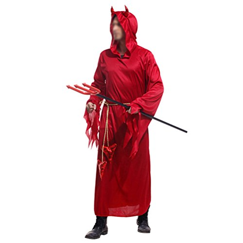 [Nanxson(TM) Men's Red Devil Adult Costume EXM0005 (Free)] (Bunny Dress Tux Tails Adult Costumes)
