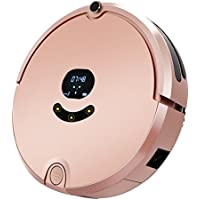 Robotic Vacuum Cleaner with Mop, Self-Charging Strong Suction Floor Cleaning Robot for Pet Hair and Allergens, Anti-Bump Sensor and Drop-Sensing Technology, Designed for Hard Floor and Thin Carpet