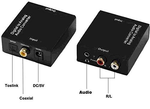 NFS Digital al convertidor Audio analógico, Convierte Las señales coaxiales o Toslink de Audio Digital a analógico L/R Audio: Amazon.es: Electrónica