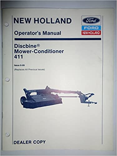 New Holland 1411 Discbine Disc Mower-Conditioner Operators Manual