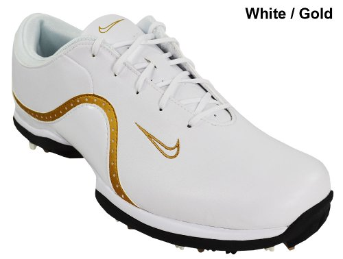 Nike Golf Women's Ace Golf Shoe,White/Black/Metallic Gold,10 M US