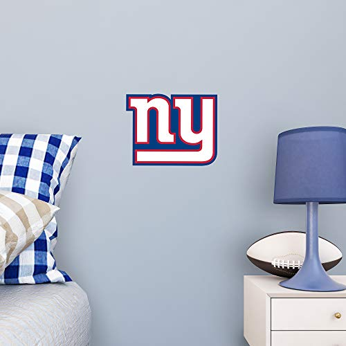 FATHEAD NFL New York Giants - Logo Teammate- Officially Licensed Removable Wall Decal, Multicolor, -