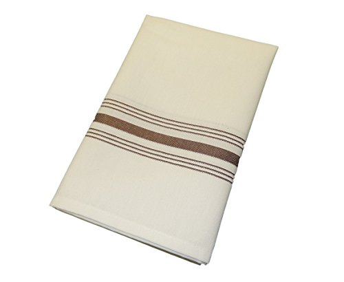 [Chocolate Milliken Signature Stripe Bistro Napkins - Set of 12] (Milliken Linens Supply)