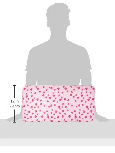 Pinolino Puppenbettzeug Herzchen, 4-tlg., mit Matratze, Bettdecke, Kopfkissen und Himmel, waschbar, Bezug 100 % Baumwolle, für Mädchen ab 1 J., rosa