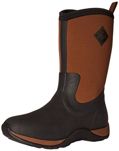 Muck Boot Women's Arctic Weekend Mid Snow Boot, Black/Tan, 8 US/8 M US by Muck Boot