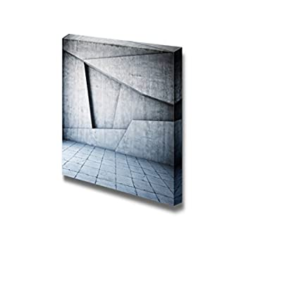 Canvas Prints Wall Art - Abstract Geometric Background of The Concrete Wall and Ground | Modern Wall Decor/Home Decoration Stretched Gallery Canvas Wrap Giclee Print & Ready to Hang - 24