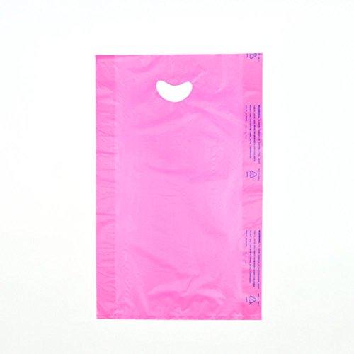 Elkay CH18ME 0.7 mil High Density Polyethylene Merchandise Bag with Die Cut Handle, 12