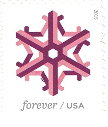 Geometric Snowflakes USPS Forever Stamps 100 Stamps (5 Books of 20) Photo #6