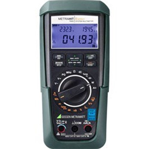 Dranetz M249A Metrahit Energy Handheld Digital Multimeter for Power and Energy Measurement with 3 Safety Measurement Cables and 4 mm Test Probes, 1000V CAT III, 600V CAT IV, DKD Calibration Certificate, Rubber Holster, 0/40° C Temperature Range