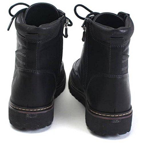 Epicstep Heren Casual Zip Veter Outdoor Wandelen Militaire Combat Rups Enkellaars Schoenen Zwart