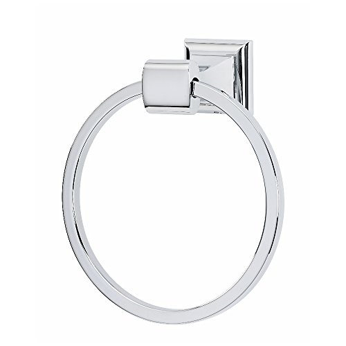 Alno A7440-PC Manhattan Modern Towel Rings, Polished Chrome, - Manhattan Towel Ring