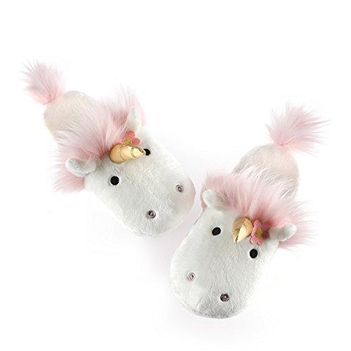 GUND Unicorn Stuffed Animal Plush Slippers, White, One Size ()