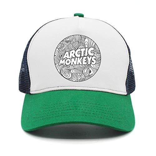 Men&Women Arctic-Monkeys-Swirls-Logo- Peaked Cap Dad Green Snapback Hat ()