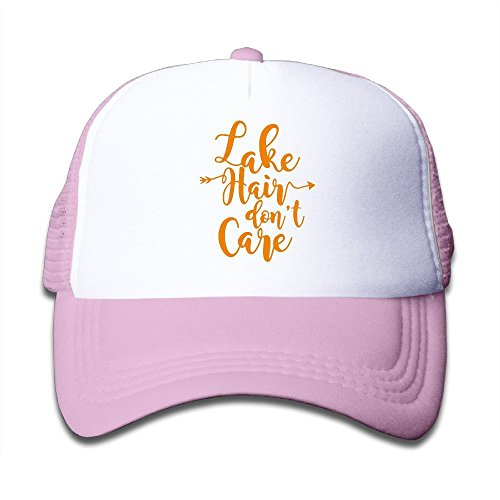 Lake Hair Don't Care Adjustable Mesh Polyester Youth Hip-Hop Sun Hats Black Halloween Holiday Gifts