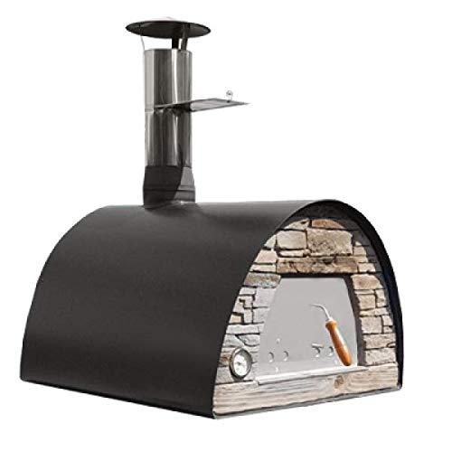 My-Barbecue Horno de Pizza de leña portátil y móvil, Color Negro ...
