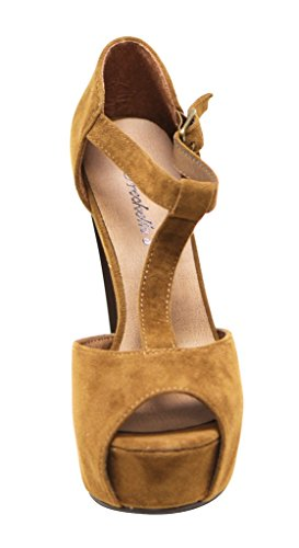 Breckelles Brina-31 Sandali Tacco Alto In Pelle Scamosciata Con Tacco A Spillo E Tacco A Spillo 8,5