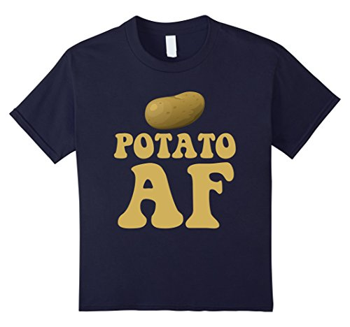 Kids Potato AF Funny Potatoes Starchy Vegetable Side Dish T-Shirt 12 Navy