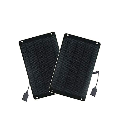 FlexSolar 2-Pack 6W Portable Solar Charger Panel, Shockproof Mobile Power Charger with 5V USB Regulated Output for Smart Phone,Power Bank and GPS Units.