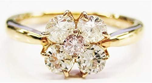 K18YG ピンク ダイヤモンド リング Pink Diamond Ring