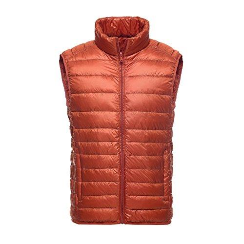 Caracilia Men's Down Puffer Vest Tag L/US S Orange (Marty Mcfly Vest)