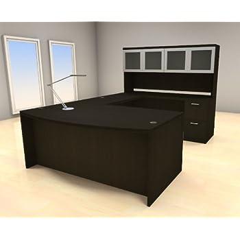 5pc U Shape Modern Executive Office Desk Set, #CH AMB U68