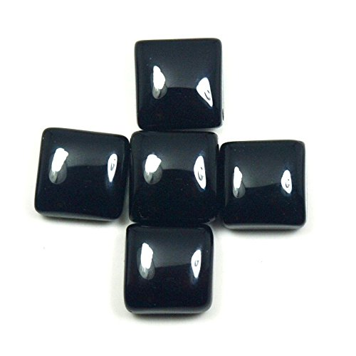 Real Black Onyx 13.1 Carat Loose Gemstone Lot 5 Piece Astrological Square Shape Wholesale - Fashion Square Wholesale