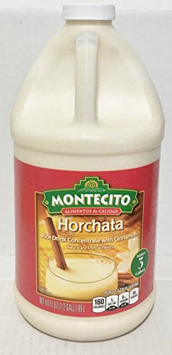 Horchata Concentrate (64oz Montecito Horchata Rice Drink Concentrate with Cinnamon, Just Add Water. Makes 3 Gallons, Pack of 1)