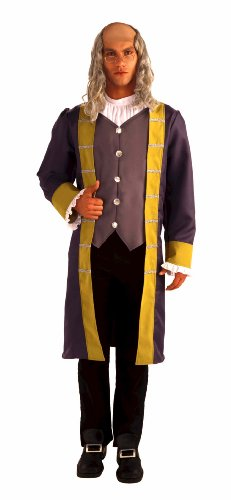 Theater Costumes For Sale (Forum Patriotic Party Collection Ben Franklin Complete Costume, Grey/Brown, Standard)