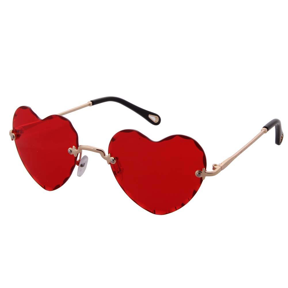 aac0290107 Amazon.com  OGOBVCK Heart Shaped Sunglasses Fashion Rimless Eyewear Women  Girl Colorful Gradient Glasses (Pink)  Clothing