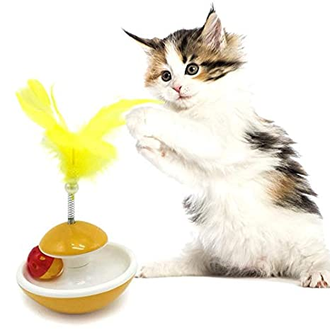 Amazon.com : Best Quality 2019 Durable pet cat Toys Feather Mouse Plastic Tumbler Balls Toys for Cats Dogs Play Training Toy for Gatos : Pet Supplies