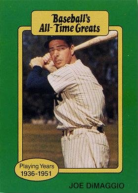 1987 Hygrade All Time Greats Joe Dimaggio Baseball Card At Amazons