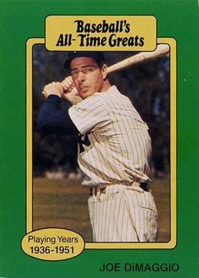 1987 Hygrade All Time Greats Joe Dimaggio Baseball Card At