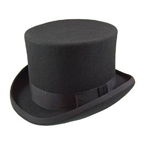 (Men's Official Major Wear Top Hats in Various Colours & Sizes (Medium - 57cm, Black))