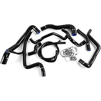 8PCS Silicone Radiator Coolant Hose Kit Clamps For 94-98 VW GOLF GTI MK3 VR6 2.8 V6 Black
