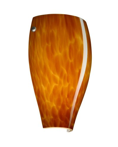 - Besa Lighting 704318-SN 1X75W A19 Chelsea Wall Sconce with Amber Cloud Glass, Satin Nickel Finish