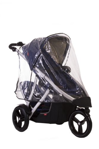 phil&teds Stormy Weather Cover for Vibe and Verve Strollers, Double