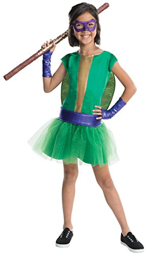 Rubies Teenage Mutant Ninja Turtles Deluxe Donatello Tutu Dress Costume, Child Medium ()
