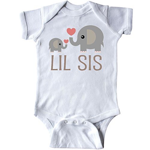 inktastic - Little Sister Elephant Infant Creeper 6 Months White 1a7a4 from inktastic