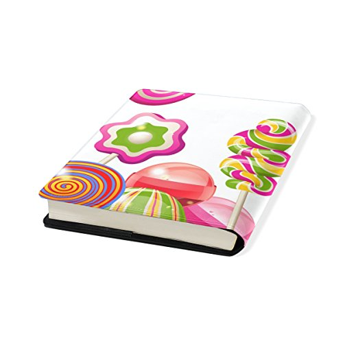 Sugar-Loaf Stretchable Leather Book Covers Standard Size for Student Hardcover Textbooks Fits Up to 9x11-Inch for School Girls Boys - Kids Sugarloaf