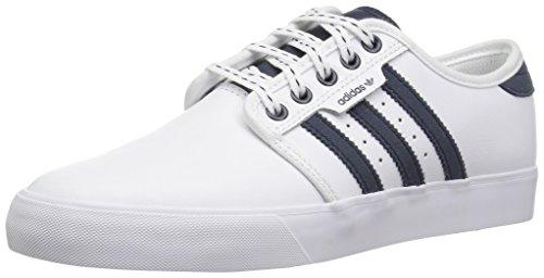 - adidas Originals Unisex Seeley Running Shoe, White/Collegiate Navy/Gum, 2.5 M US Little Kid